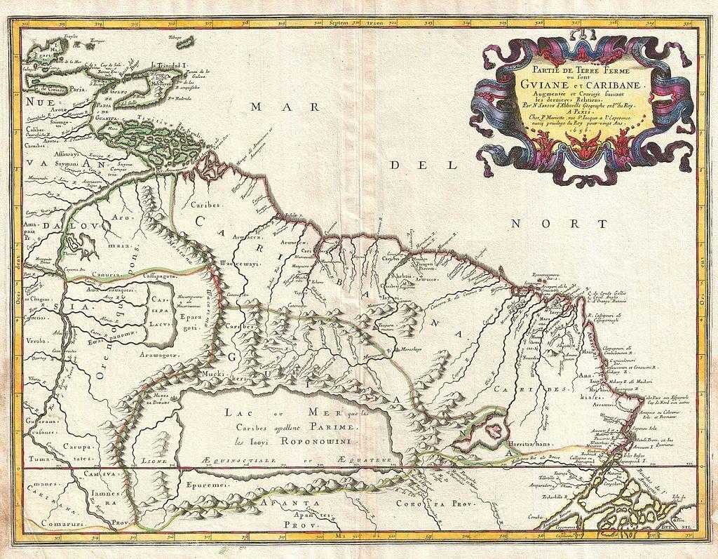 Mapa da Gùiana, 1656