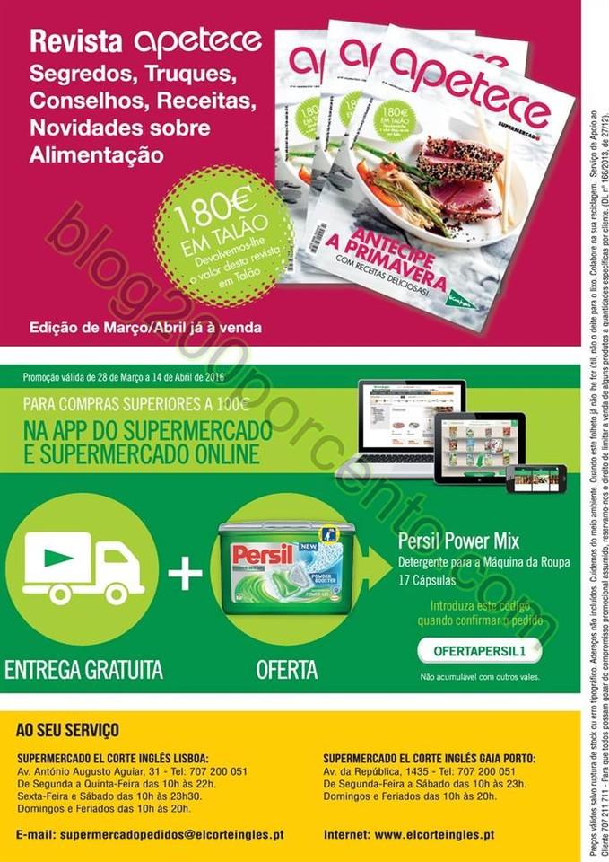 Novo Folheto EL CORTE INGLÉS promoções de 28 ma