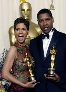 Halle Berry e Denzel Washington, Óscares de melhores actores, 2002.