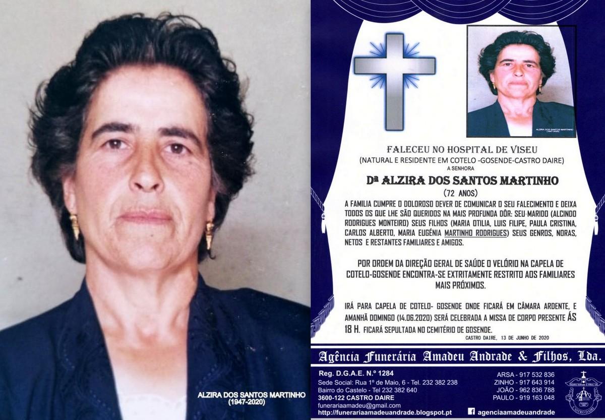 FOTO RIP DE ALZIRA DOS SANTOS MARTINHO-72 ANOS (CO