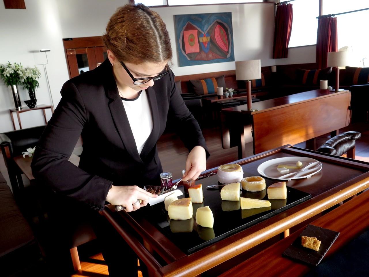 Magda Martins e os queijos