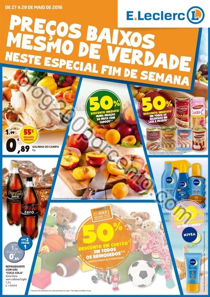Antevisão Folheto E-LECLERC Fim de semana de 27 a