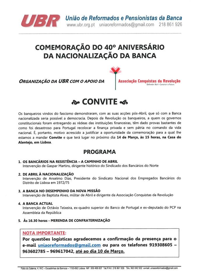 40 aniversario nac Banca