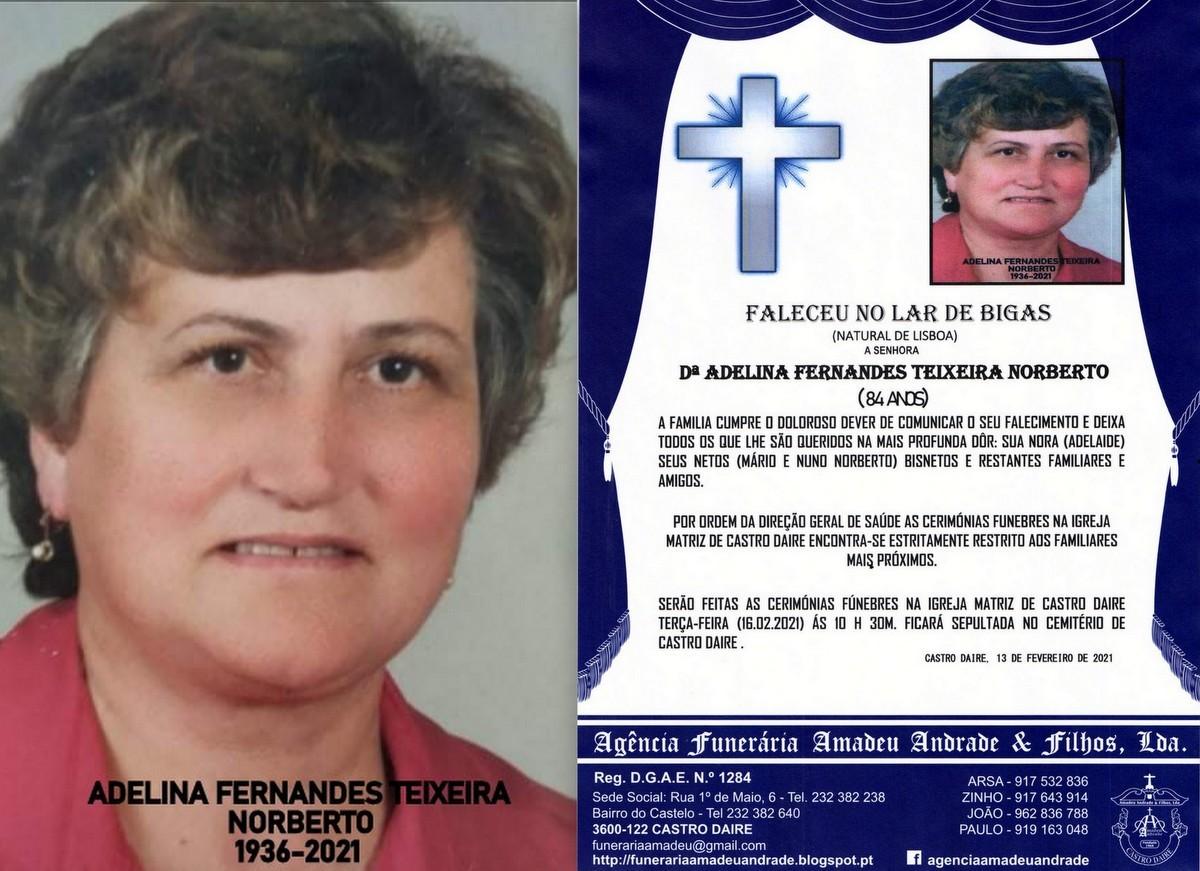 FOTO RIP DE ADELINA FERNANDES TEIXEIRA NORBERTO -