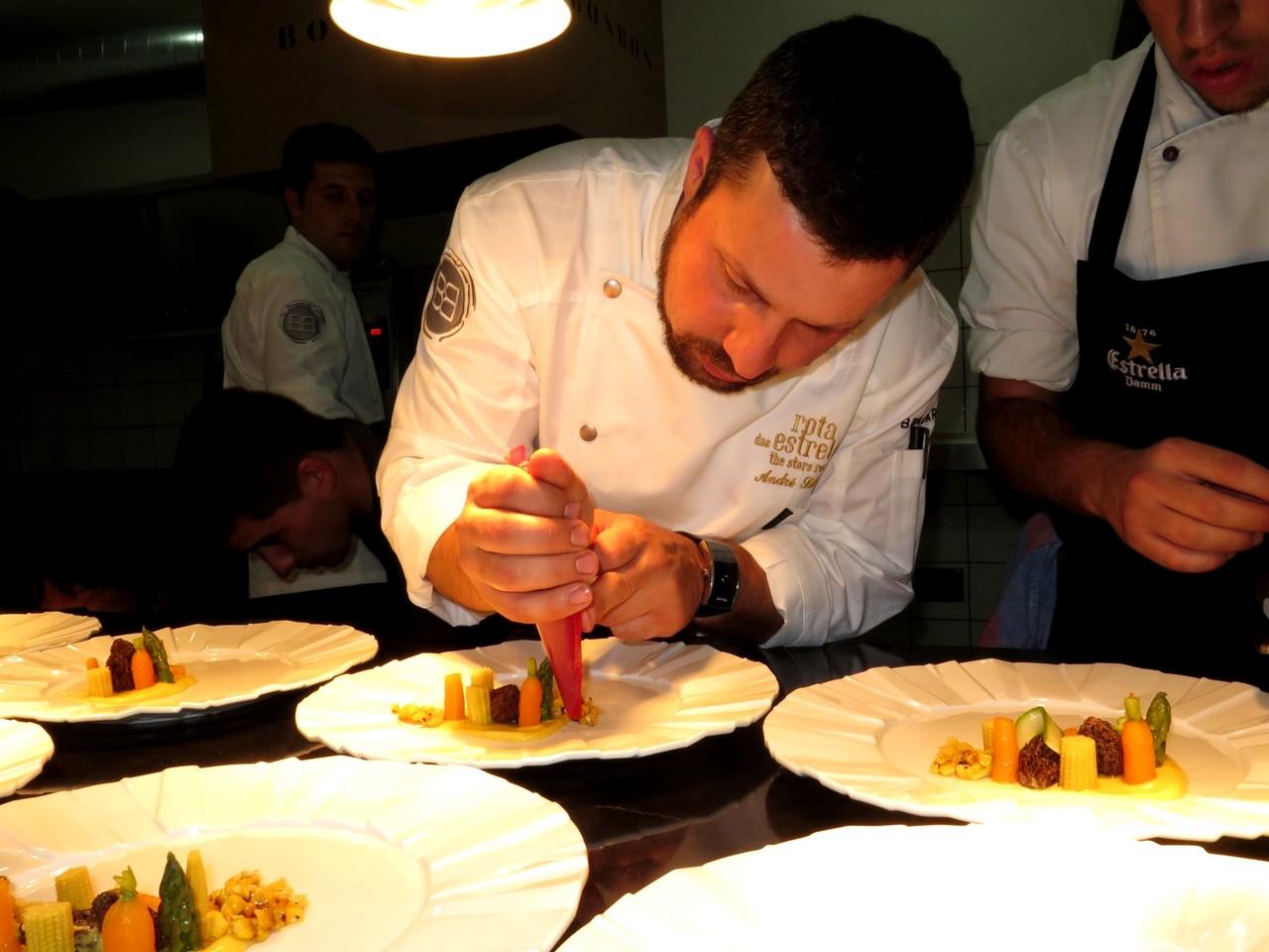 André Silva na cozinha do BON BON