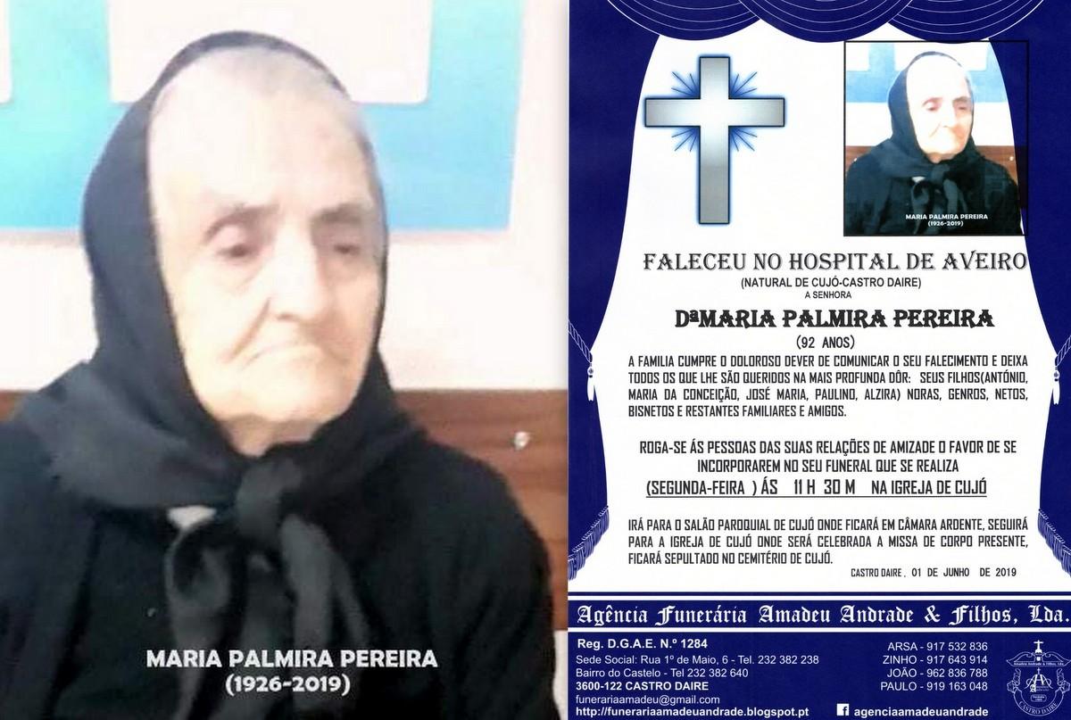 FOTO RIP HORA DE MARIA PALMIRA PEREIRA-92 ANOS (CU