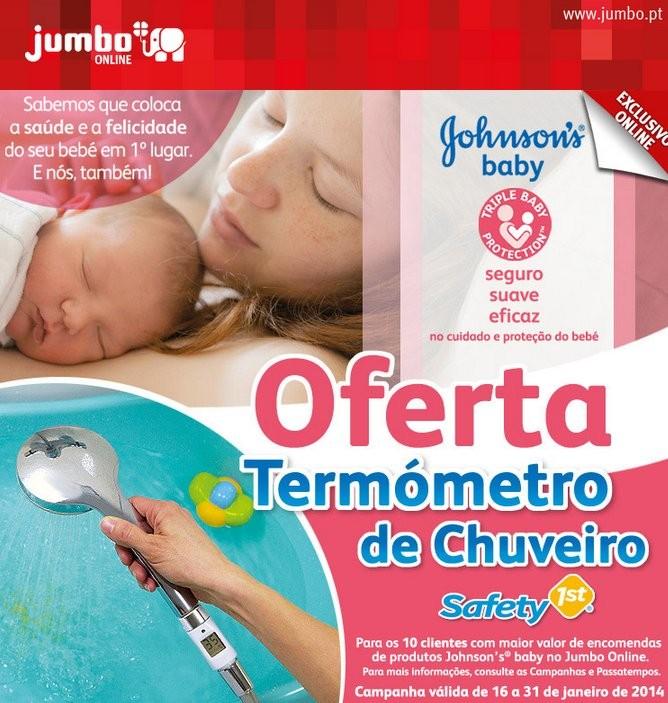 Oferta   JUMBO   Johnson's Baby até 31 janeiro