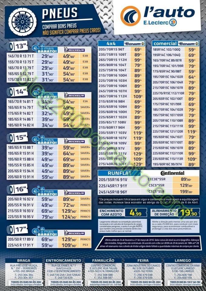 Antevisão Folheto E-LECLERC Auto de 24 fevereiro