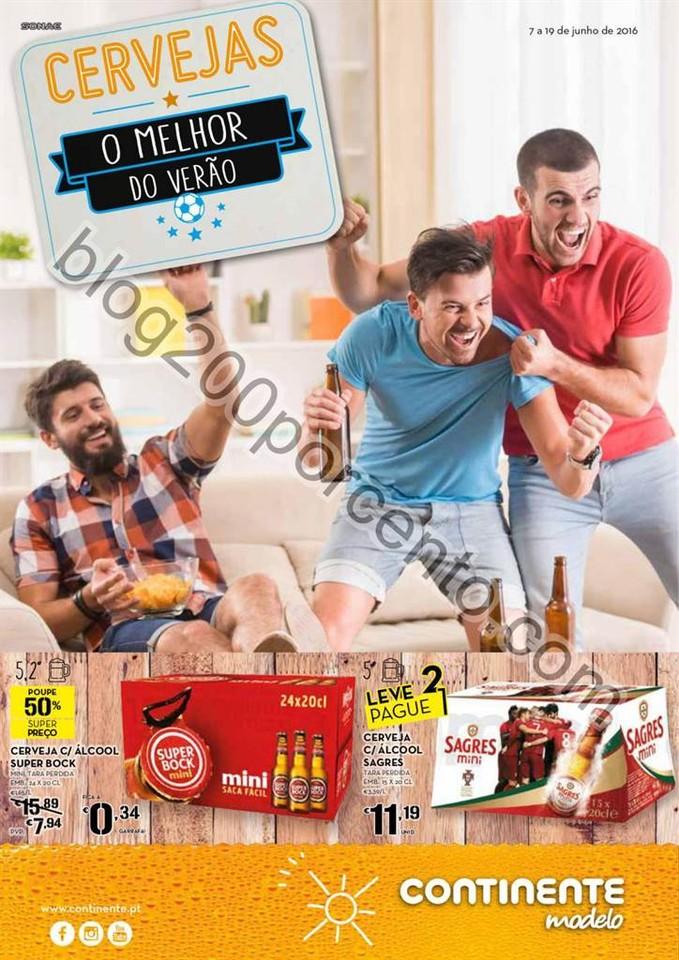 Antevisão Folheto CONTINENTE Cervejas promoções