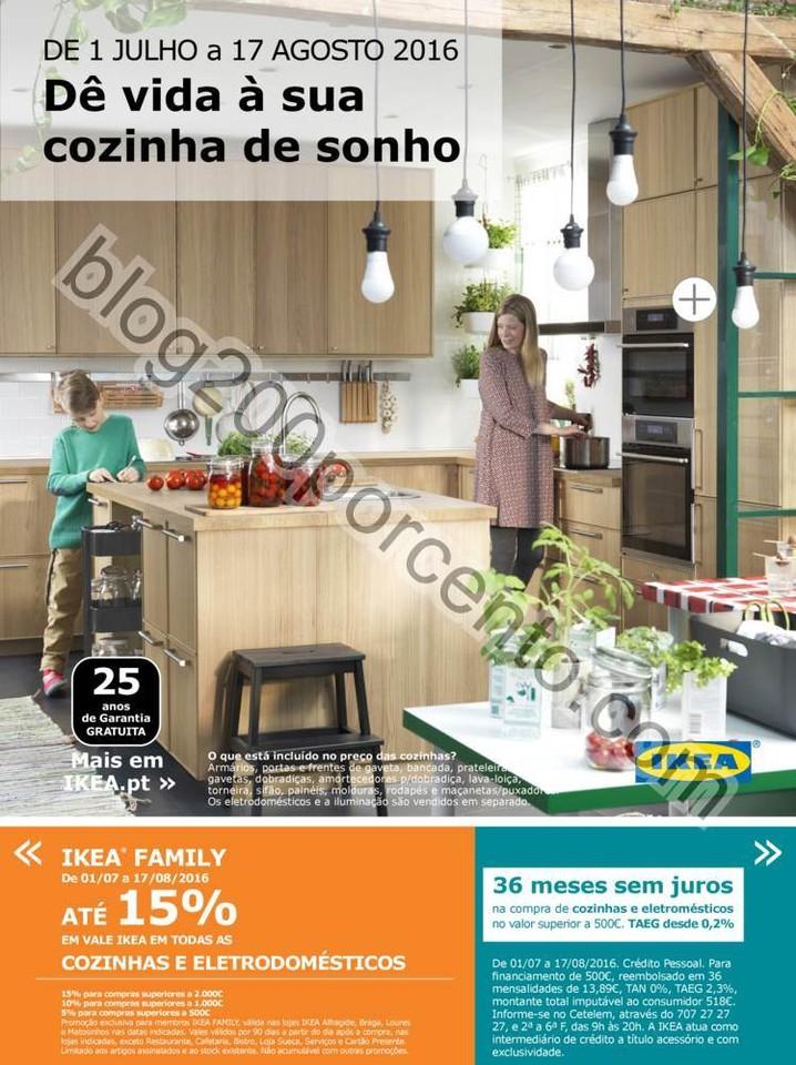 Novo Folheto IKEA Cozinhas Promoções até 17 ago