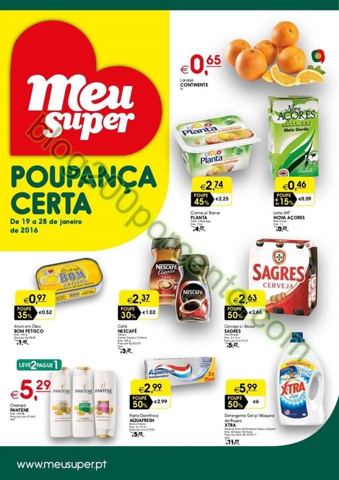 Antevisão Folheto MEU SUPER Promoções de 19 a 2