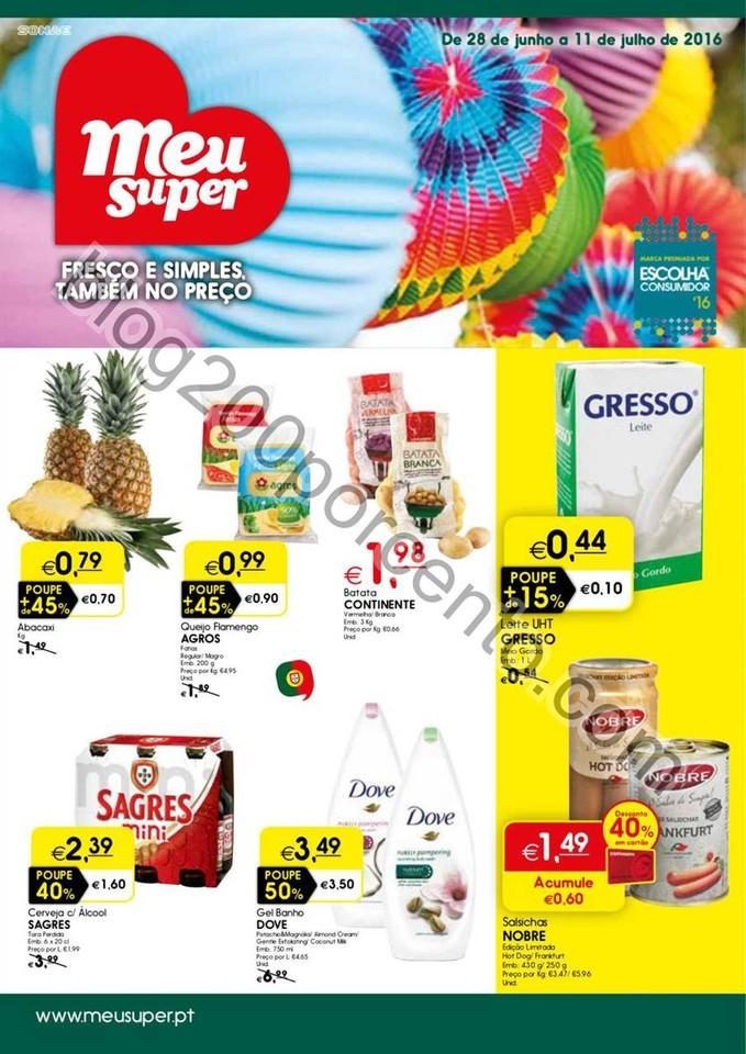 Antevisão Folheto MEU SUPER Promoções de 28 jun