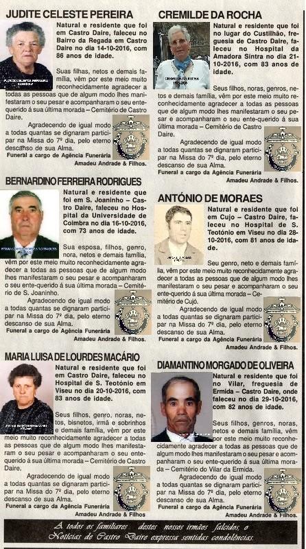 NECROLOGIA NOTICIAS DE CASTRO DAIRE 10 DE NOVEMBRO
