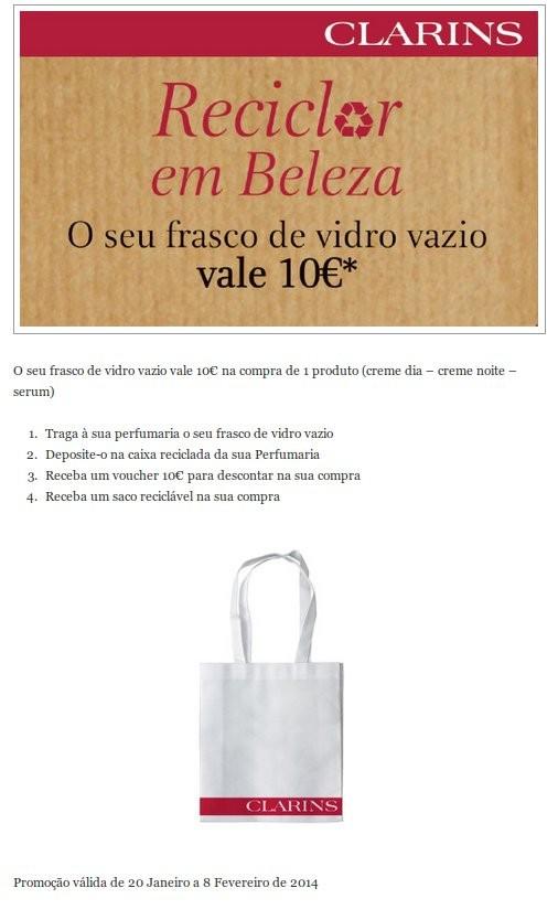 O seu Frasco vazio vale 10€   EL CORTE INGLÉS   Clarins