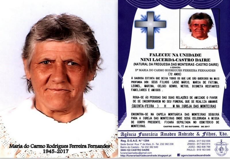 FOTO E RIP-MARIA DO CARMO RODRIGUES FERREIRA FERNA