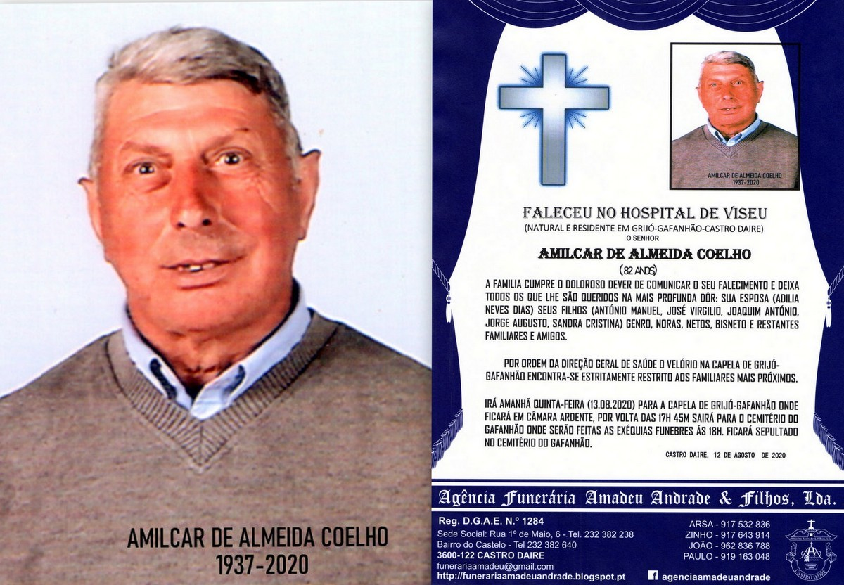 FOTO DE AMILCAR DE ALMEIDA COELHO-82 ANOS (GRIJÓ-