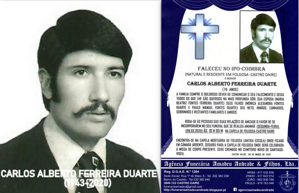 FOTO RIP DE CARLOS ALBERTO FERREIRA DUARTE-76 ANOS