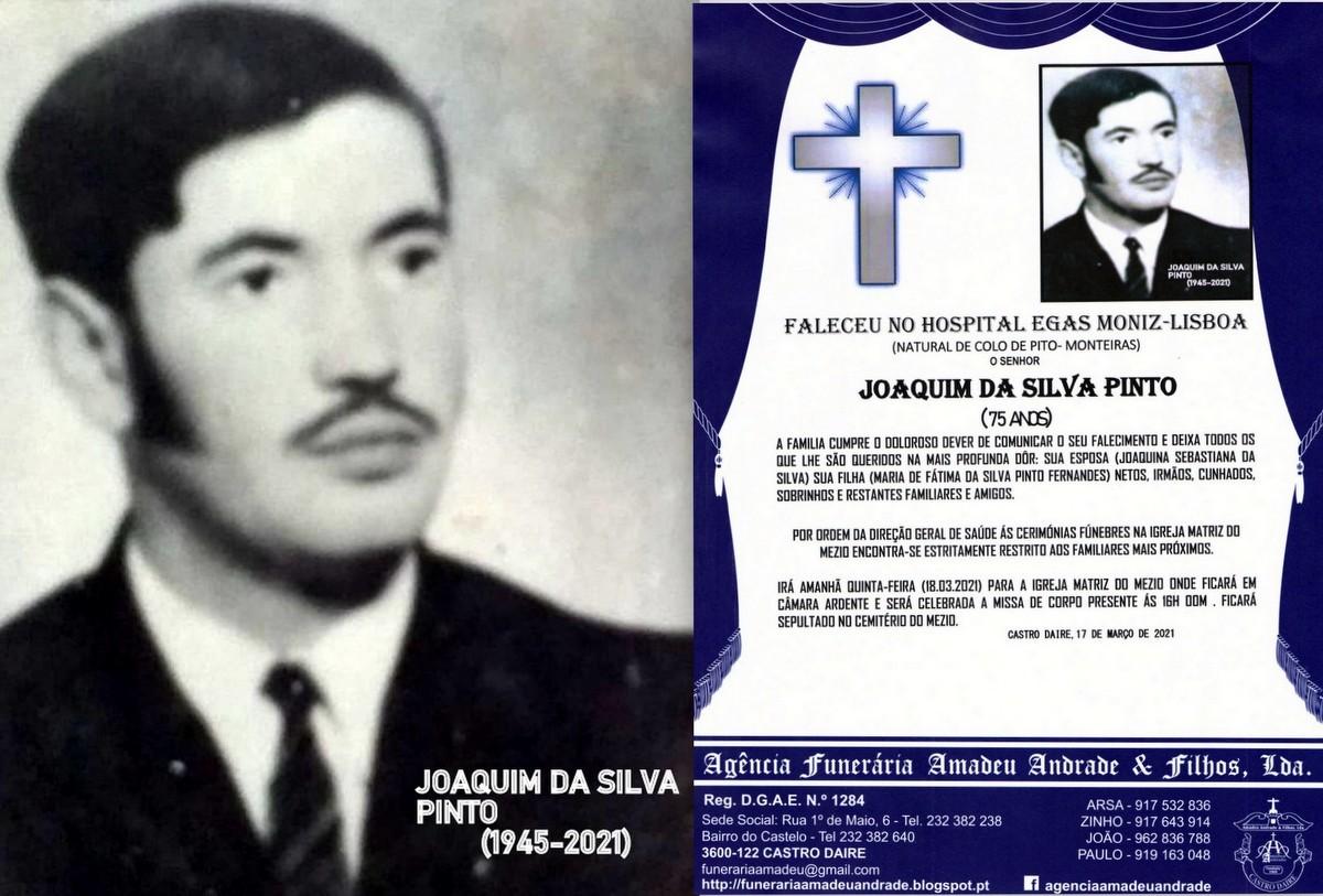 FOTO RIP  DE JOAQUIM DA SILVA PINTO-75 ANOS (MEZIO