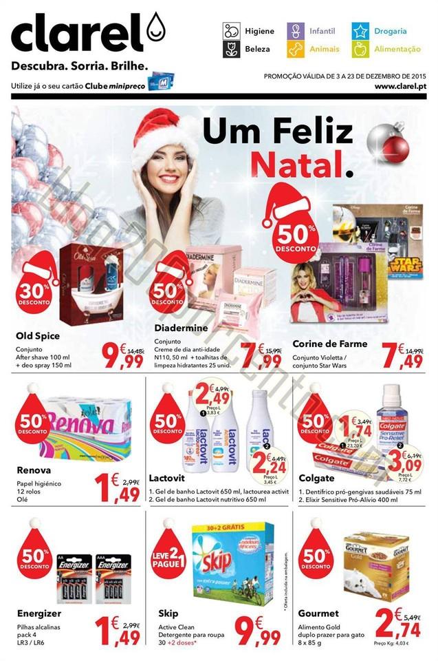 Antevisão Folheto CLAREL Natal promoções de 3 a
