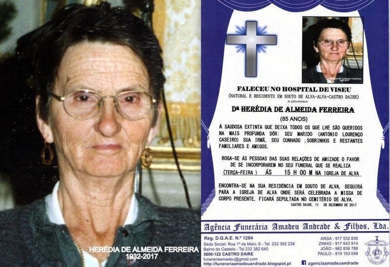 FOTO RIP- DE HERÉDIA DE ALMEIDA FERREIRA-85 ANOS