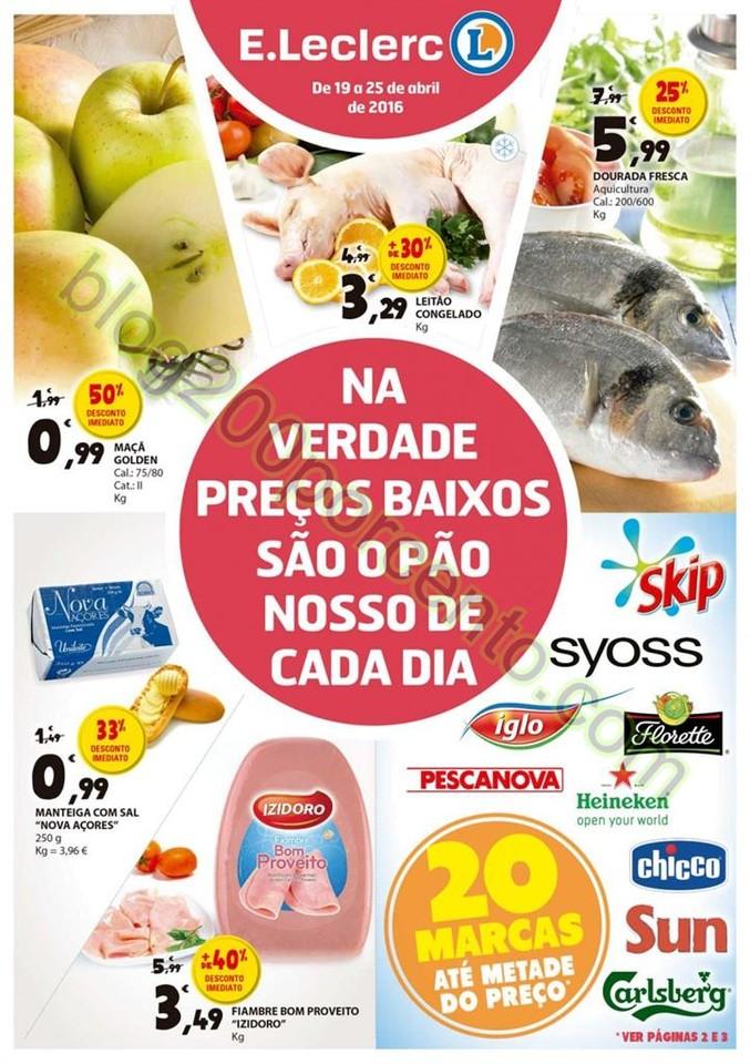 Antevisão Folheto E-LECLERC Promoções de 19 a 2