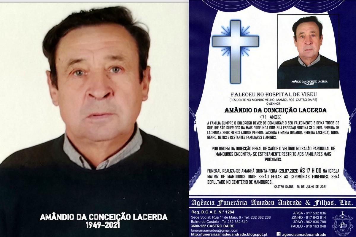 FOTO RIP AMÂNDIO DA CONCEIÇÃO LACERDA-71 ANOS(M