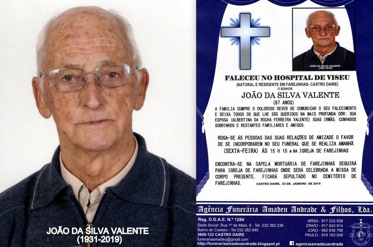 FOTO RIP DE JOÃO DA SILVA VALENTE-87 ANOS (FAREJI