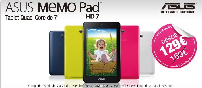 Promoção   JUMBO / BOX   Asus memo Pad Hd 7