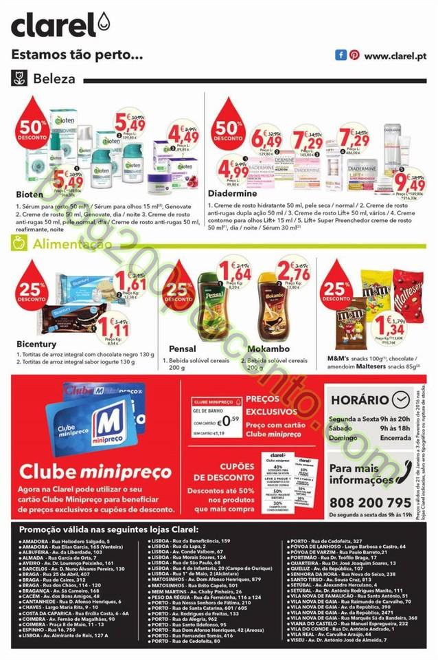 Antevisão Folheto CLAREL Promoções de 21 janeir