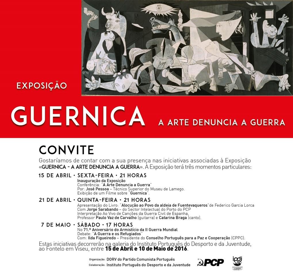 Convite Guernica Viseu 2016