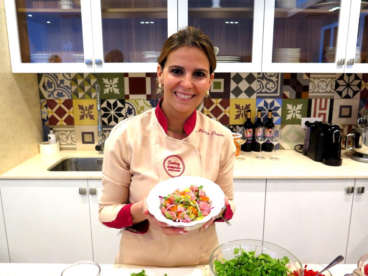 Mónica Pereira e o ceviche