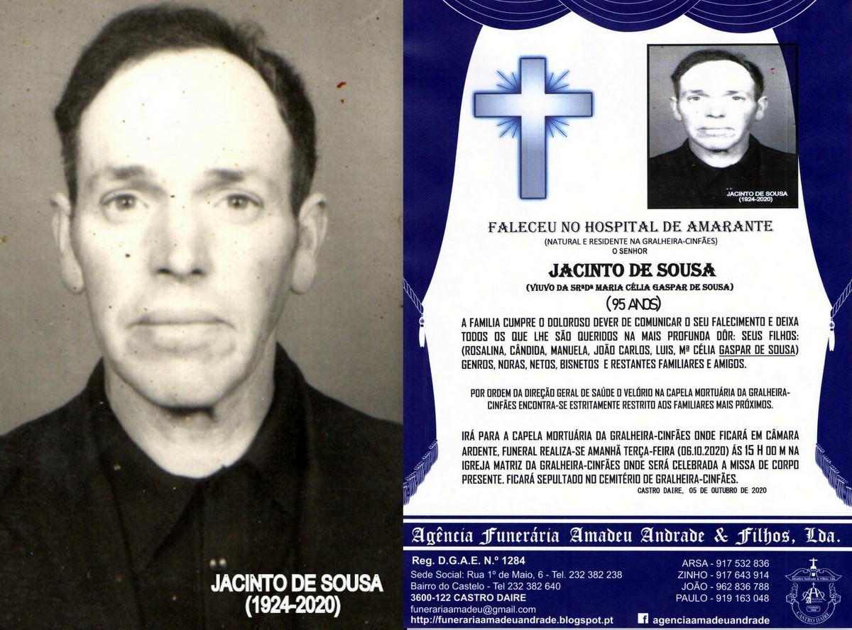 FOTO RIP  DE JACINTO DE SOUSA -95 ANOS (GRALHEIRA-
