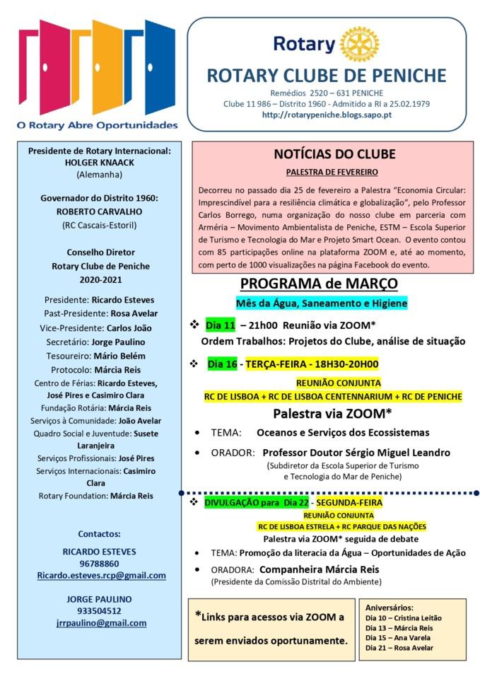 Programa de março do Rotary Clube de Peniche_page