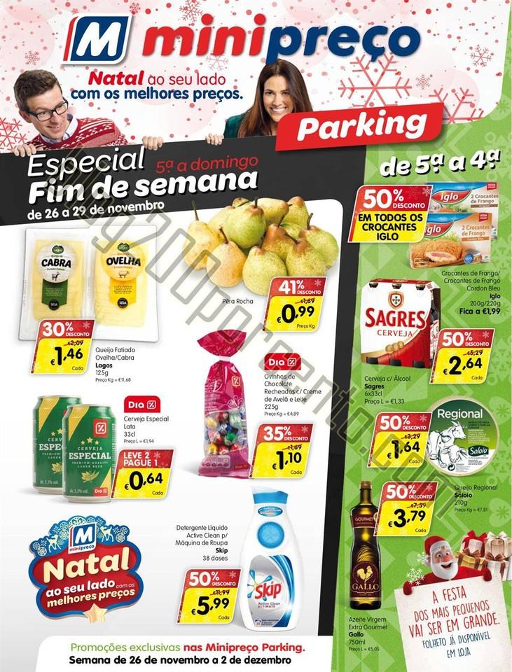 Antevisão Folheto MINIPREÇO Parking de 26 novemb