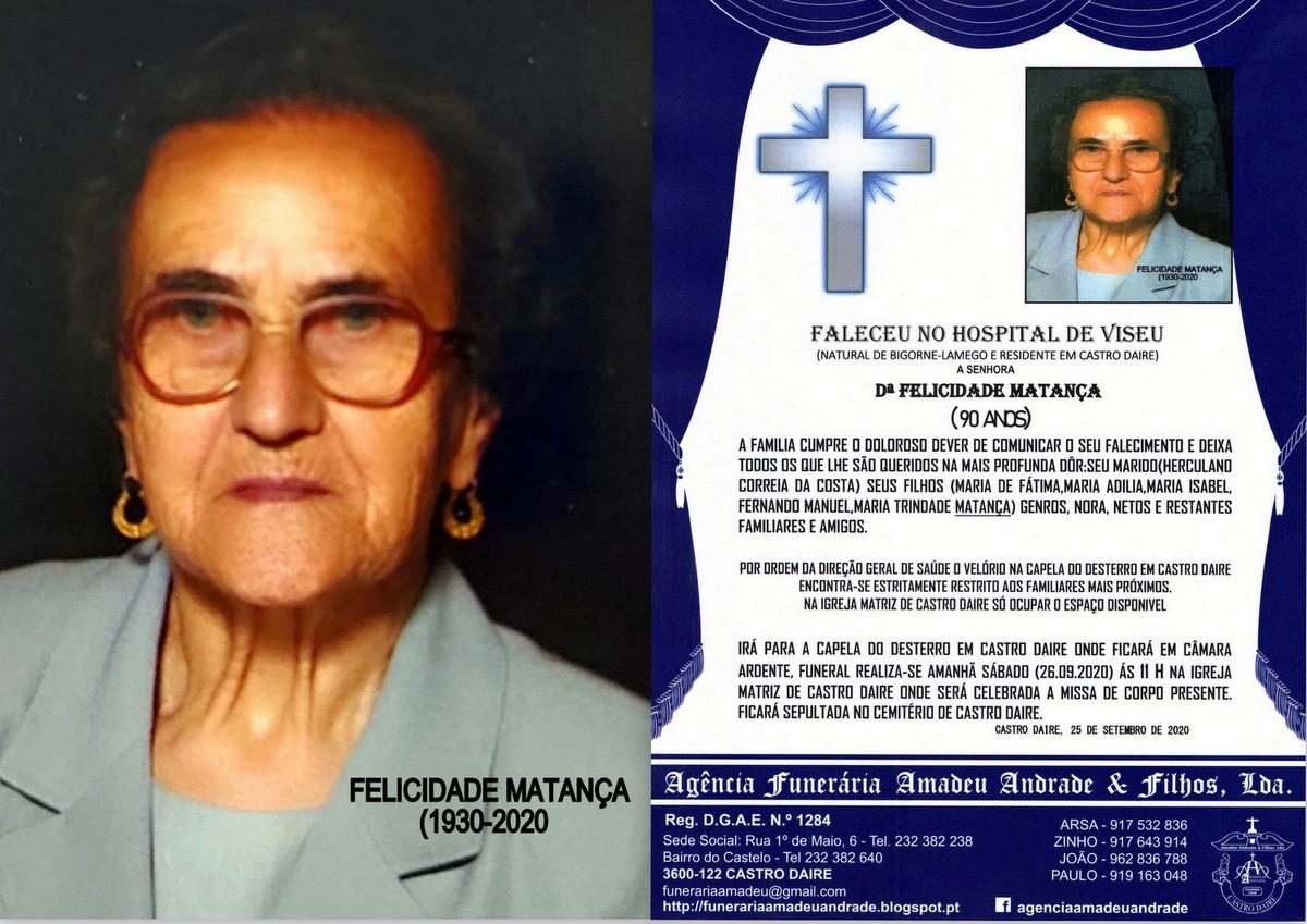 FOTO RIP DE FELICIDADE MATANÇA-90 ANOS (CASTRO DA