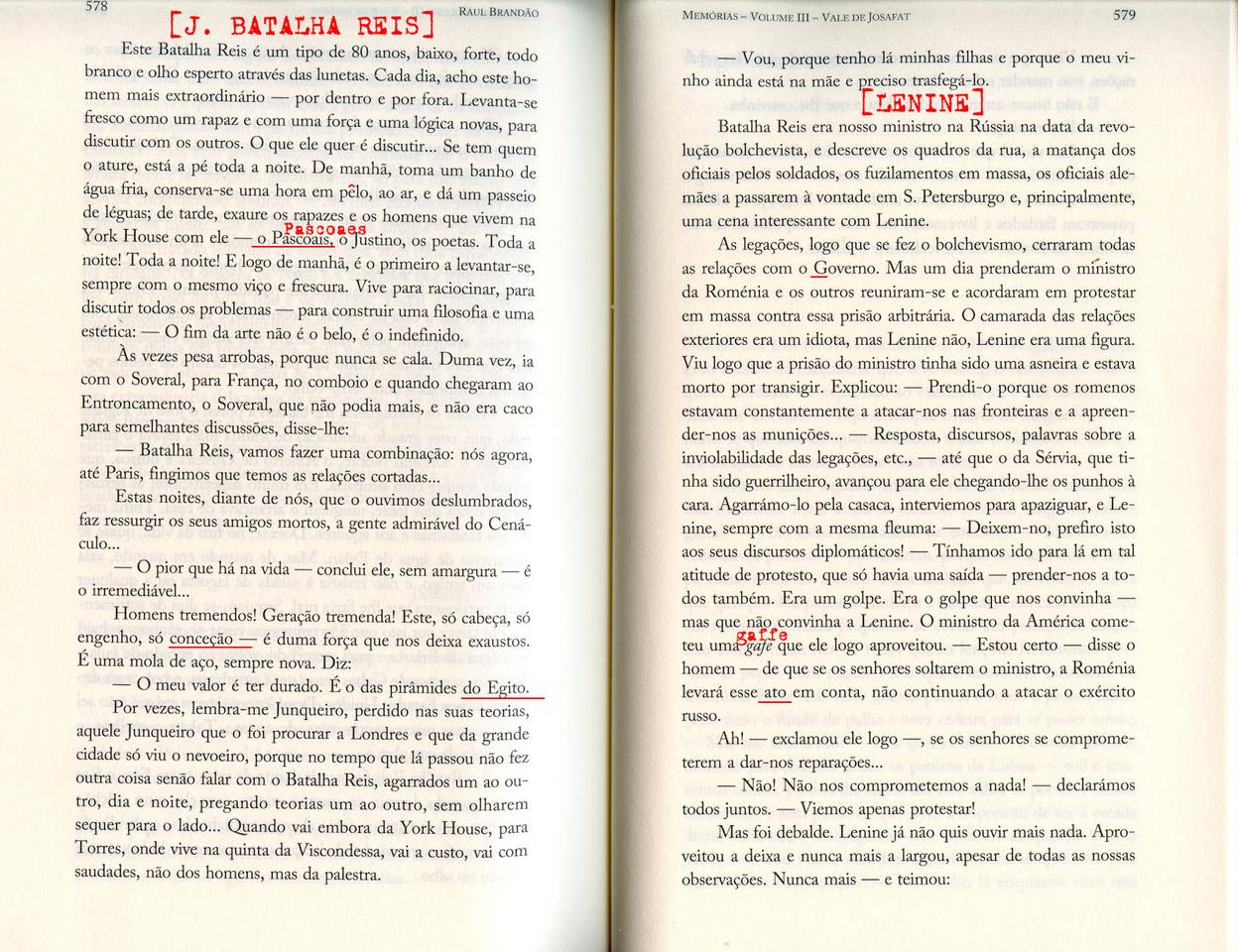 Raul Brandão, «Memórias», Quetzal, 2017, pp. 578-579.