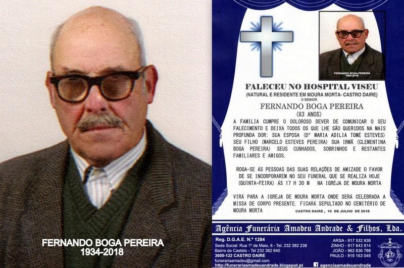 FOTO RIP-DE FERNANDO BOGA PEREIRA-83 ANOS (MOURA M