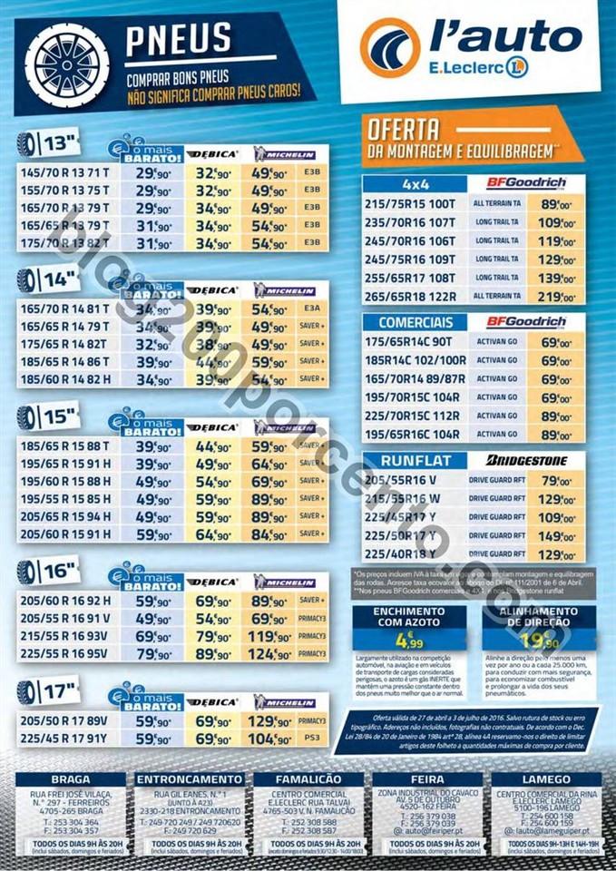Antevisão Folheto E-LECLERC Auto Promoções de 2