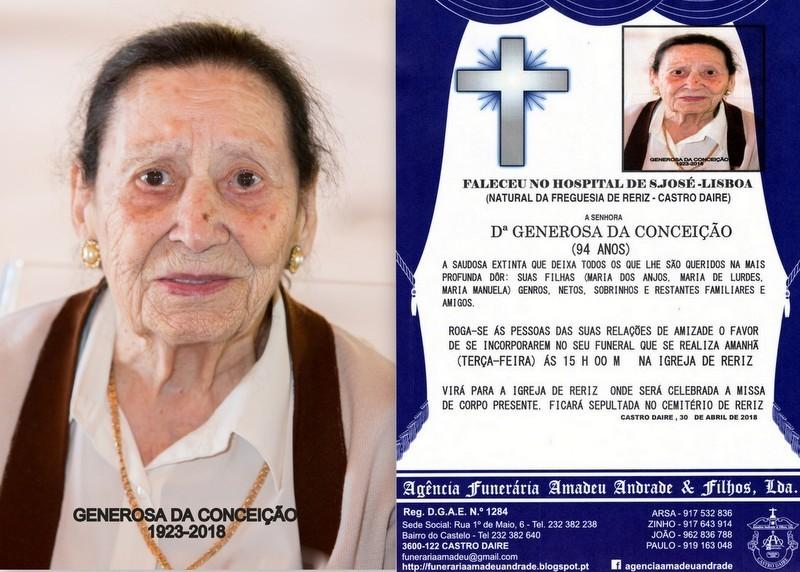 RIP-FOTO DE GENEROSA DA CONCEIÇÃO -94 ANOS (RERI