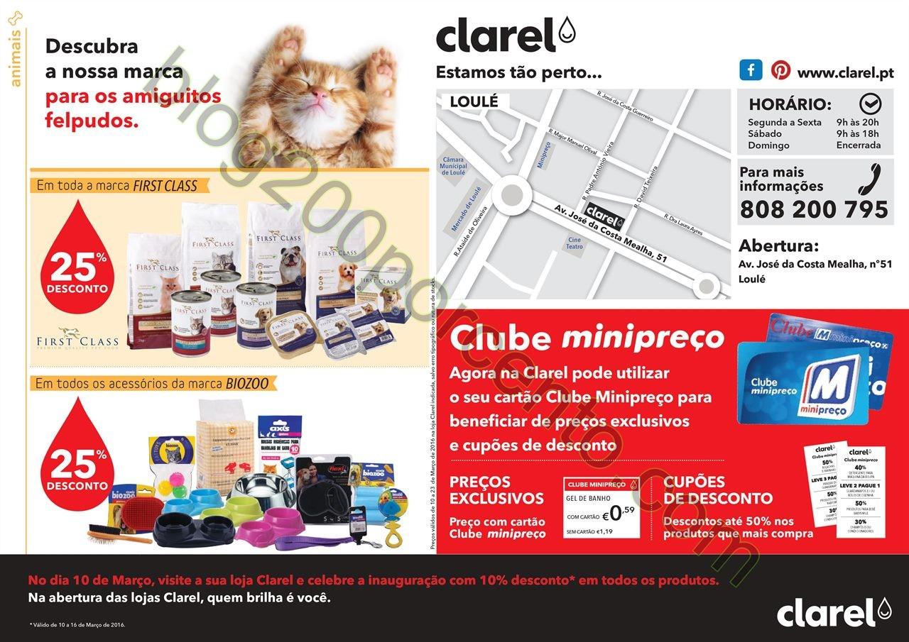Antevisão Folheto CLAREL Aberturas promoções de