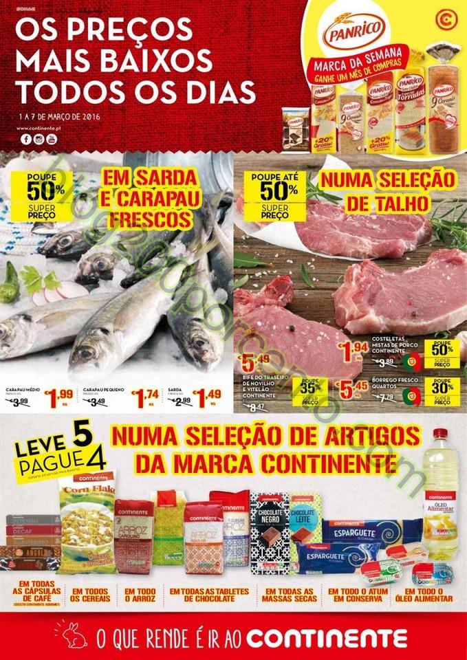 Antevisão Folheto CONTINENTE Promoções de 1 a 7