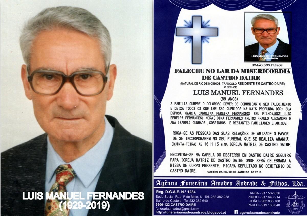 FOTO RIP DE LUIS MANUEL FERNANDES -89 ANOS (CASTRO