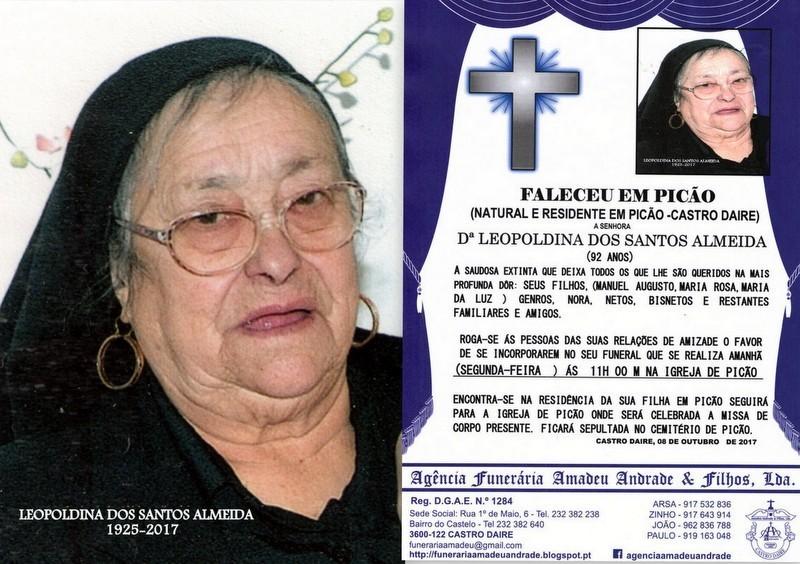 FOTO RIP-DE LEOPOLDINA DOS SANTOS ALMEIDA-92 ANOS