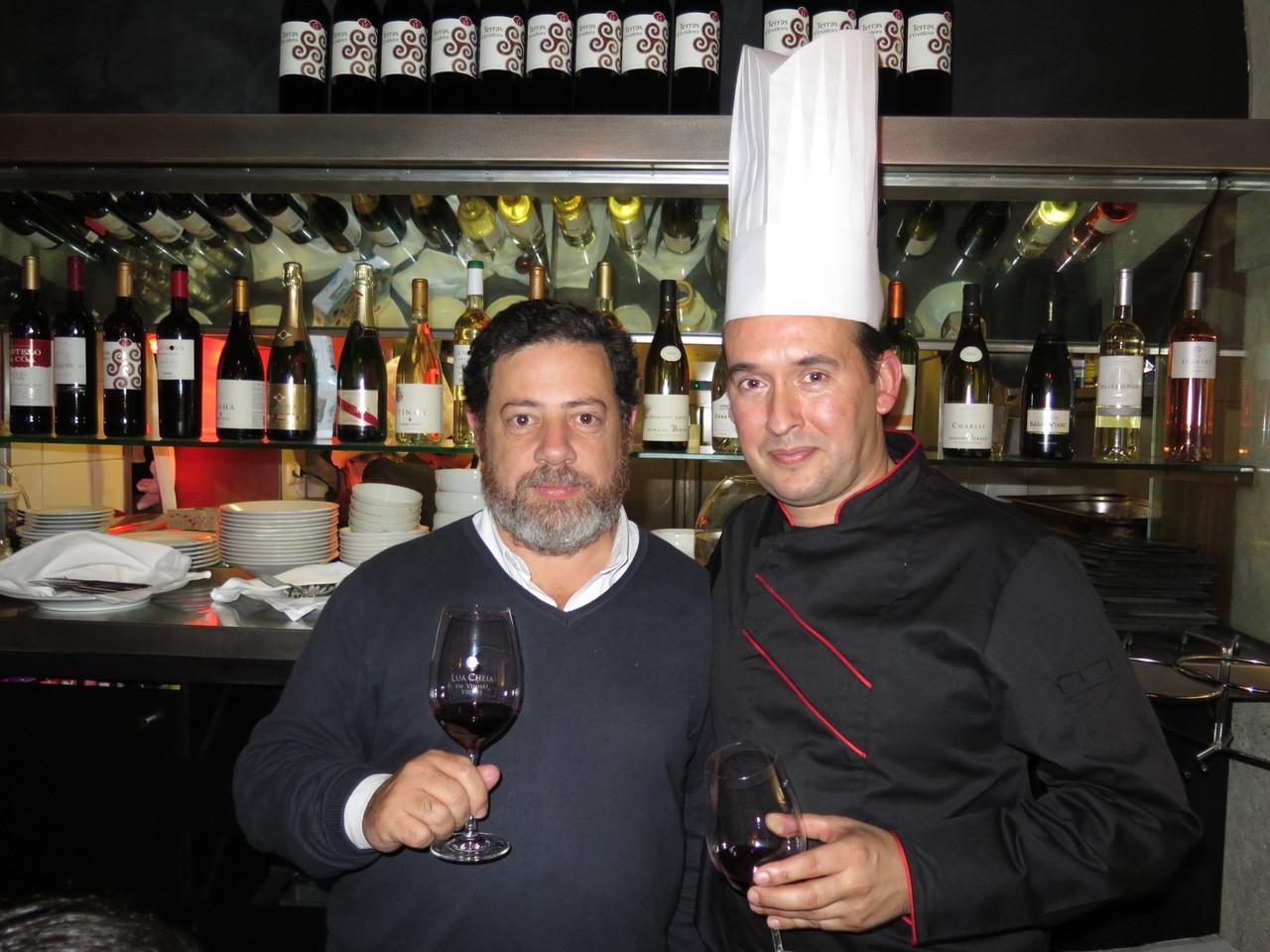 Tomás Caldeira Cabral (responsável pela seleção de vinhos do jantar) & Xavier Charrier