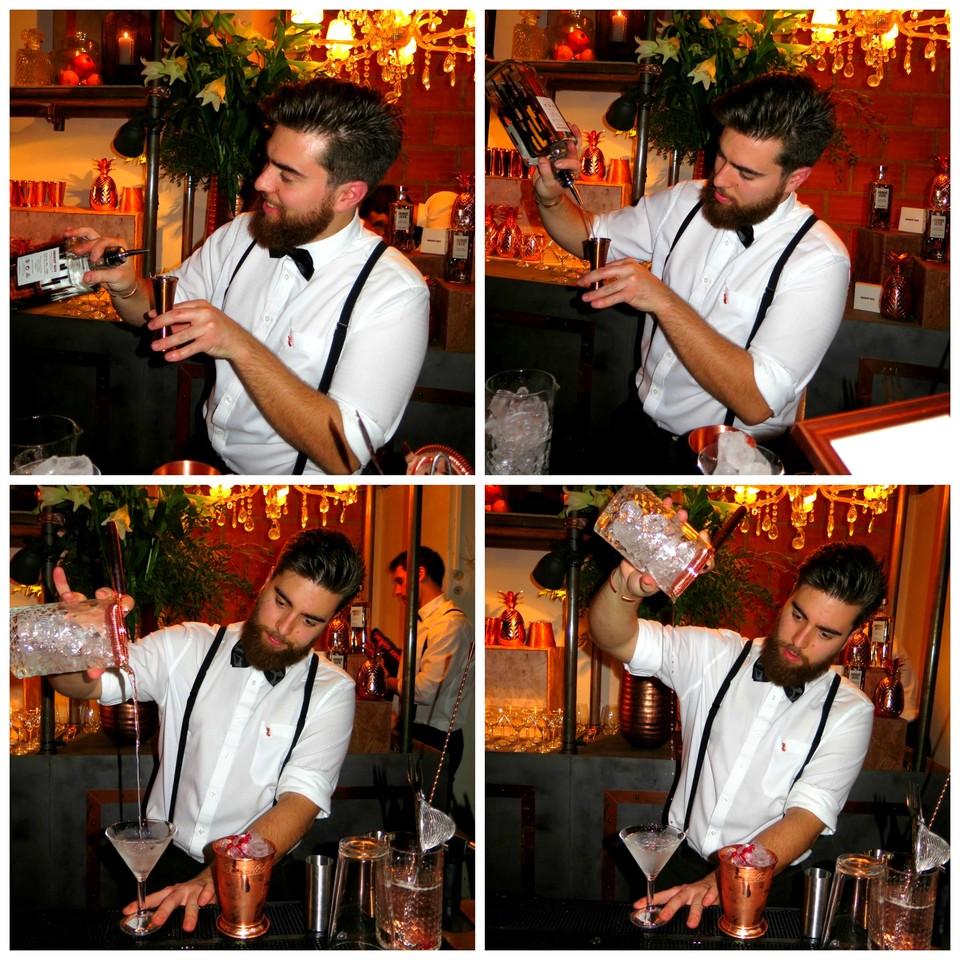 Diogo Quinaz preparando o My Elyx Martini