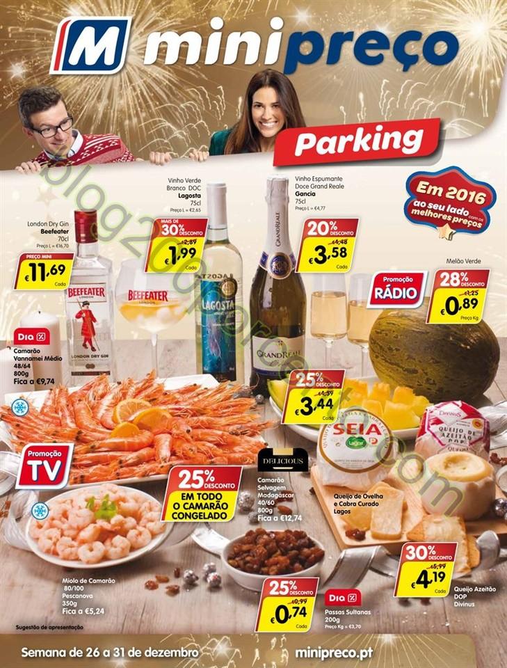 Antevisão Folheto MINIPREÇO Parking de 26 a 31 d
