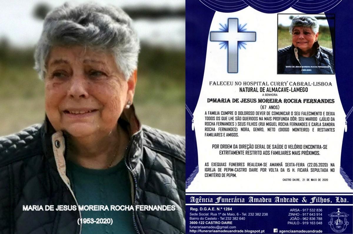 NOVA FOTO RIP DE MARIA DE JESUS MOREIRA  ROCHA FER