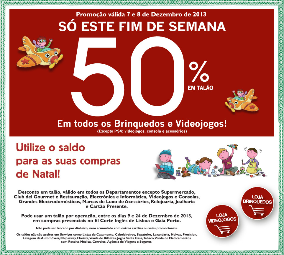 50% de desconto | EL CORTE INGLÉS | Brinquedos