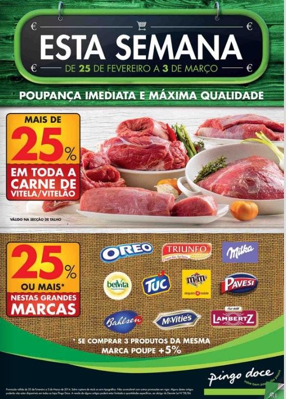 Novo folheto   PINGO DOCE   já online - de 25 Fevereiro a 3 março