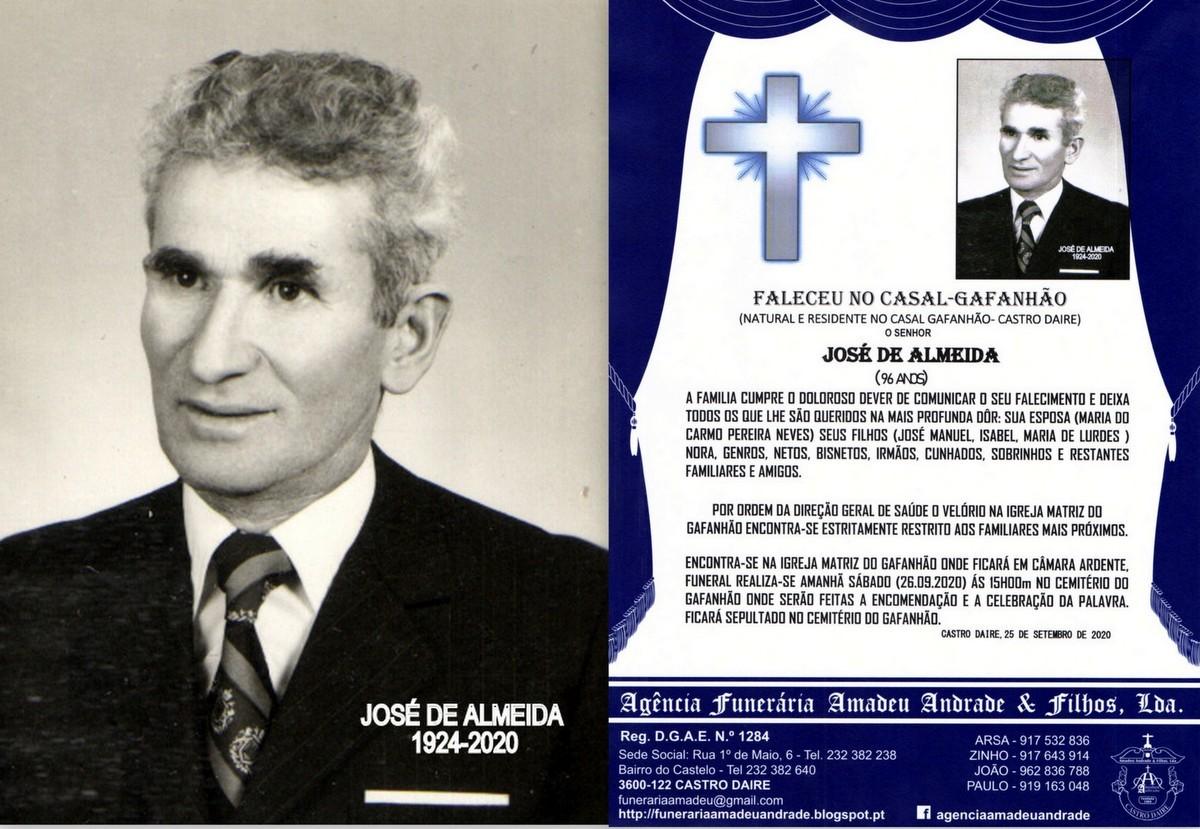 FOTO RIP JOSÉ DE ALMEIDA-96 ANOS (CASAL-GAFANHÃO